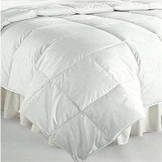 White Silk Filled Comforter - Down Comforters - Silk Bedding