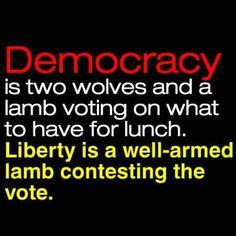 One of my fav quotes ! The USA ia a #constitutionalrepublic ---- NOT a #Democracy