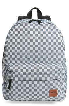 862e1eac7462 VANS DEANA III CHECKERED BACKPACK - WHITE.  vans  bags  canvas  backpacks