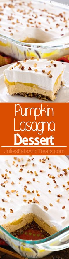 Pumpkin Lasagna Dess