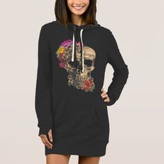Day of the Dead, Floral Skull, Hoodie Dresspretty dresses for women over 40 Pretty Dresses For Women, Business Women, Business Casual, Floral Skull, Over 50 Womens Fashion, Looking Stunning, Skull Hoodie, Evening Gowns, Work Clothes