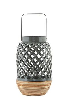 Photophore Breeze Small / Bambou - Ø 15 x H 24 cm - House Doctor House Doctor, How To Make, Design, Bohemian Soul, Jar Candle, Bamboo, Lantern, Candle