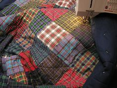 Callicvol Quilts, Outer Hebrides. Tartan quilt in the making.