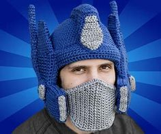 Prepare for simultaneous battle against the Decepticons and cold weather with help from the crocheted Optimus Prime helmet. The helmet guises your noggin and...
