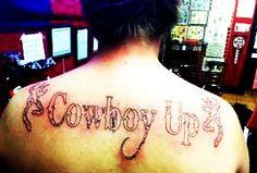 cowboy up tattoo