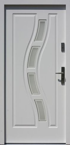 Drewniane wejściowe drzwi zewnętrzne do domu z katalogu modeli klasycznych wzór 544,1+ds1 House Gate Design, Door Gate Design, Door Design Interior, Wooden Door Design, Wood Front Doors, The Doors, Wooden Doors, Single Door Design, Custom Exterior Doors