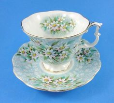 "Royal Albert Festival Series ""Saville"" Tea Cup and Saucer Set"