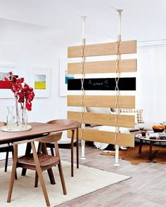 Room divider!    Recycling Wood Floor Pieces for DIY Room Dividers and Wall Decorations