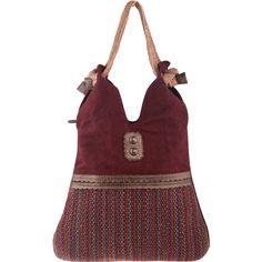 Boho Linen Large Shoulder Bag ❤ liked on Polyvore featuring bags, handbags, shoulder bags, boho handbags, bohemian handbags, shoulder hand bags, linen handbag and red handbags