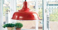 Suspension Style Bistrot Cuisine Rouge Boutique Comptoir de Famille