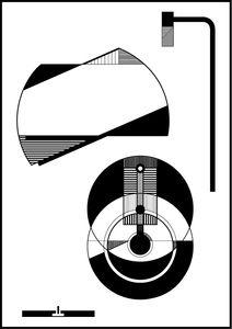 Image of Lamp A3 - kr999,00 A3 illustration printet på 300 g. papir. Illustrationen er signeret og nummereret. Oplag: 100 stk. Prisen er inklusiv tynd (5 mm) sort stålramme proff. indrammet med syrefrit pap på bagsiden.