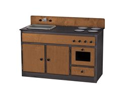 KITCHEN SINK STOVE & OVEN Handmade Wood Play Furniture ~ METRO SERIES