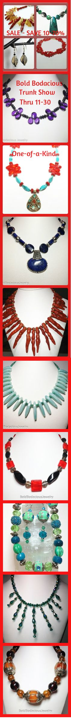 Bold Bodacious Jewelry Sale Online Trunk Show - 10-70% off over 200 one-of-a-kind items