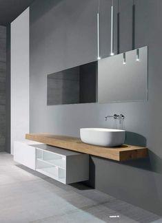 Trendy Bathroom Wood Tile White Vanities Source by Bathroom Interior Design, Bathroom Shower Walls, Trendy Bathroom, Modern Bathroom Design, Elegant Bathroom, Modern Bathroom Vanity, White Vanity Bathroom, Modern Bathroom Cabinets, Wood Bathroom