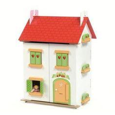 Tuttifrutti poppenhuis met meubeltjes