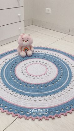 Crochet Bebe, Knit Crochet, Animal Rug, Crochet Rug Patterns, Nursery Rugs, Baby Afghans, Security Blanket, Yarn Crafts, Kids Rugs