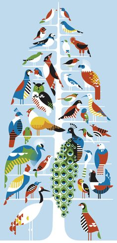 Birds for 'Urban Forest Project' by Alexander Rob, 2006.