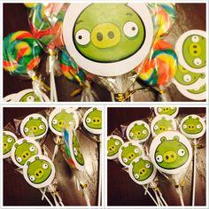 DIY Angry Birds Lollipops