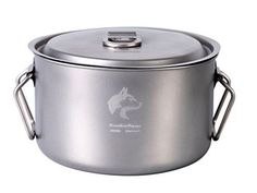 Introducing Boundless Voyage 3600ml Titanium Big Pot Camping Cooking Pot Outdoor Picnic Cookware 416g. Great Product and follow us to get more updates!