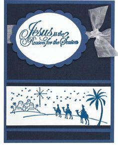 Jesus is the Reason DIY Christmas Card   Jesus is the reason for the season. Send your Christmas blessings with this beautiful religious Christmas card.