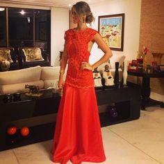 Priscylla Cavalcanti vestido de festa