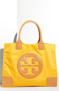 I don't normally like Tory Burch bags but I'm digging the bright yellow for spring