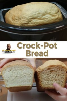 Did you know you can make bread in a Crock-Pot (Slow Cooker)? You totally can! So if you don't have an oven, or don't want to turn the oven on this step-by-step guide is for you! Bread dough and a crockpot is all you need! Slow Cooker Bread, Crock Pot Slow Cooker, Crock Pot Cooking, Slow Cooker Recipes, Crockpot Recipes, Cooking Recipes, Bread Machine Recipes, Easy Bread Recipes, Healthy Recipes