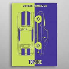 CHEVROLET CAMARO Z28 by FARKI15 DESIGN   metal posters - Displate Chevrolet Impala, Chevrolet Camaro, Poster Prints, Posters, New Tricks, Good Company, Improve Yourself, Classic Cars, Metal