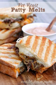 Leftover Pot Roast Patty Melts