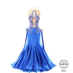 Chrisanne blue nude crystal design modern dress Latin Dance Dresses, Ballroom Dance Dresses, Ballroom Dancing, Ballroom Costumes, Belly Dance Costumes, Elegant Dresses, Pretty Dresses, Belly Dance Outfit, Bodysuit Dress