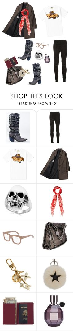 """""""ASHER"""" by dajabrooke on Polyvore featuring Jeffrey Campbell, Yves Saint Laurent, A BATHING APE, Effy Jewelry, Alexander McQueen, STELLA McCARTNEY, Louis Vuitton, Royce Leather and Viktor & Rolf"""