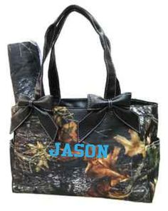 Personalized Brown Camo Diaper Bag Camouflage Mossy Oak | eBay