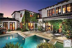 Creating a home!  Love the warm feel of this pool & backyard. Newport Beach, Ca. #orangecounty