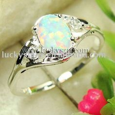 White fire opal crystal