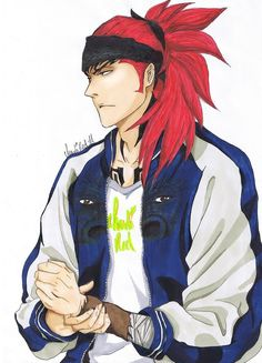 Renji (and guess what) agaaain I'm really sorry if you'r already tired of my pics of him but I fear you have get used to it xD Sorry in chapter . Renji V Manga Bleach, Bleach Renji, Kuchiki Rukia, Bleach Art, Anime Nerd, Anime Manga, Anime Guys, Shinigami, Bleach Characters