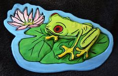 3D Frog Puzzle Girl with flower  on Etsy, $20.00