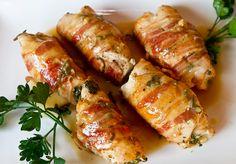 Pancetta Wrapped & Stuffed Chicken Cutlets