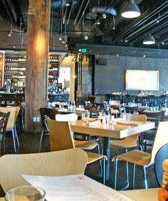 M Street Kitchen in Santa Monica. Modern, not fussy. High-low mix.