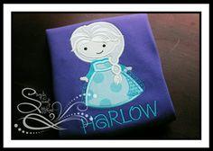 Ice Queen Elsa Applique Shirt or Bodysuit by AprylEatman on Etsy, $20.00