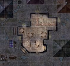 Tavern and surrounding streets Battle Map