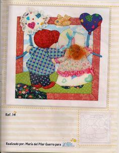 Gallery.ru / Фото #16 - 955 - Yra3raza Sunbonnet Sue, Applique, Patches, Kids Rugs, Quilts, Crochet, Aurora, Patchwork Embutido, Molde