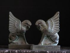 Good Pair of Art Deco GH Laurent Bookends