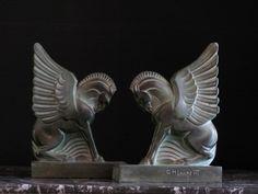 Good Pair of Art Deco GH Laurent Bookends