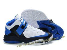 on sale 6f631 01575 Nike Lebron Zoom Soldier VI Shoes White Black Blue 2013 Blue Basketball  Shoes, Nike Basketball