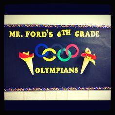Olympic themed bulletin board!!!