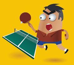Ping Pong Vector Character
