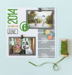 Days and Dates Cricut Image Set -- Wedding Scrapbook Layout page. Make It Now in Cricut Design Space