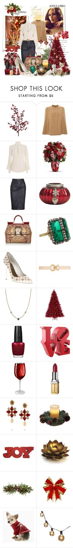 Merry Christmas and Happy Holidays to all my followers and to each and every creative polyvore user by annagiro on Polyvore featuring moda, Alexander McQueen, Derek Lam, Dolce&Gabbana, Sylva & Cie, Elsa Peretti, Forever New, Elizabeth Arden, OPI and Lene Bjerre
