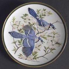 Franklin MintWoodland Birds Of The World: Blue Jay - Artist: Arthur Singer