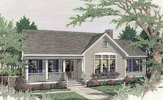 Perfect with a garage and master sunroom added. This 1 story Country features 1626 sq feet. Call us at to talk to a House Plan Specialist about your future dream home! Ranch House Plans, Cottage House Plans, New House Plans, Dream House Plans, Small House Plans, Cottage Homes, House Floor Plans, Modular Home Floor Plans, Country Style House Plans